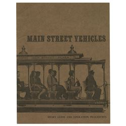 """Main Street Vehicles"" Signed Operations Guide."