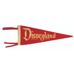 Red and White Disneyland Pennant.
