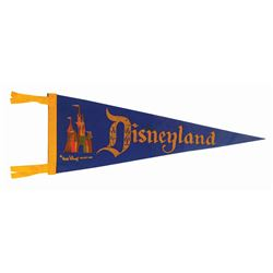 Blue Sleeping Beauty Castle Pennant.