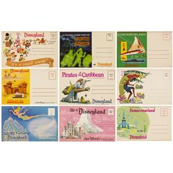 "Set of (9) ""Colorful Scenes from Disneyland"" Mailers."