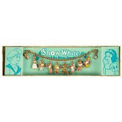 Snow White and the Seven Dwarfs 8-Charm Bracelet.