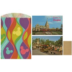 Pair of Disneyland Postcards with Gift Bag & Receipt.