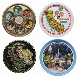 Set of (4) Disneyland Souvenir Trays.