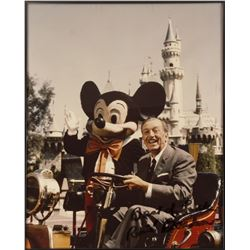Signed Walt Disney & Mickey Photo.