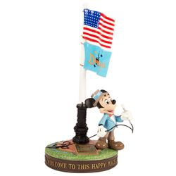 Mickey Mouse Disneyland Flagpole Statue.