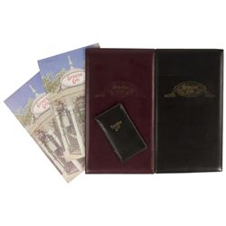 Set of (4) Carnation Cafe Menus & Check Holder.
