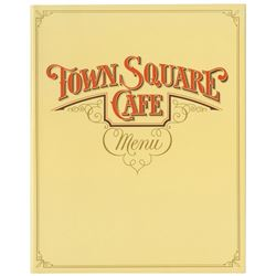 Town Square Cafe Menu.