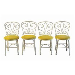 Set of (4) Yellow Plaza Pavilion Chairs.