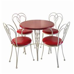 Coca Cola Refreshment Corner Table with (4) Chairs.