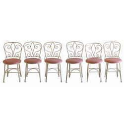 Set of (6) Plaza Inn Pink Chairs.
