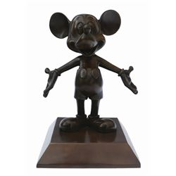 The Hub Bronze Statue of Mickey.