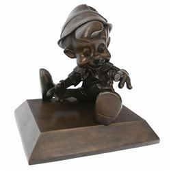 The Hub Bronze Statue of Pinocchio.