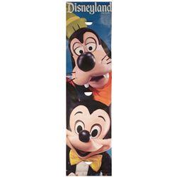 Large Goofy & Mickey Disneyland Banner.