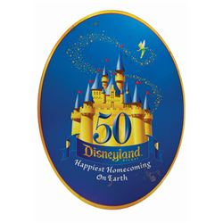 Disneyland 50th Anniversary Sign.