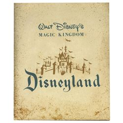 Disneyland 1955 Press Kit Reproduction.