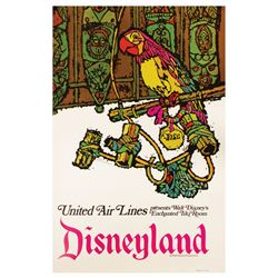 United Air Lines Enchanted Tiki Room Travel Poster.