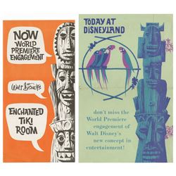 Pair of Enchanted Tiki Room World Premiere Flyers.