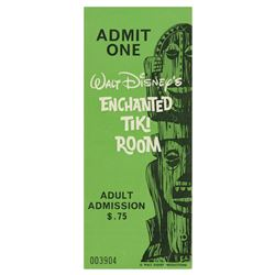 Enchanted Tiki Room Opening Year Adult Ticket.