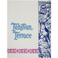 Tahitian Terrace Menu.
