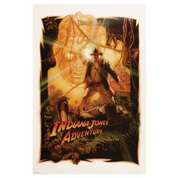 Indiana Jones Adventure Attraction Opening Day Poster.