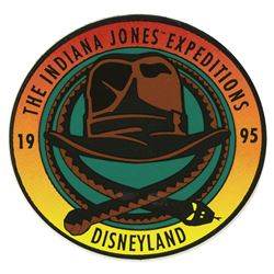 Indiana Jones Expeditions Construction Sticker.