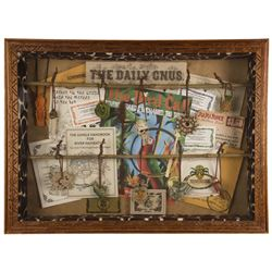 "Indiana Jones Scavenger Hunt ""Jujus"" Framed Set."