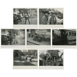 Group of (7) Frontierland Gunfight Photos.