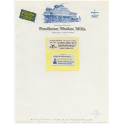 Disneyland Pendleton Woolen Mills Stationery and Tag.