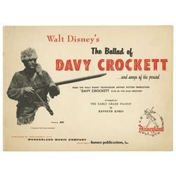 The Ballad of Davy Crockett Piano Sheet Music.