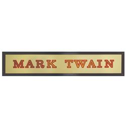 Mark Twain Entrance Sign.