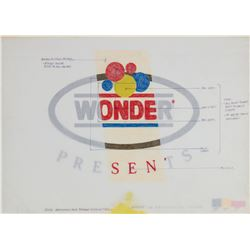 Original Golden Horseshoe Wonder Bread Logo Artwork.