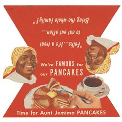 Aunt Jemima Pancake House Table Card.