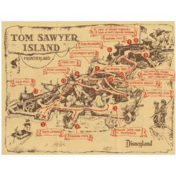 """Explorer's Map of Tom Sawyer Island"" Brochure."