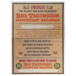 Big Thunder Mountain Railroad Park-Used Poster.