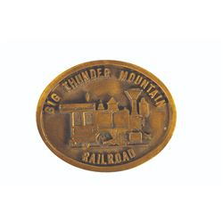Big Thunder Mountain Railroad Belt Buckle.
