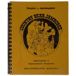 Country Bear Jamboree Maintenance Manual.