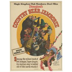 Country Bear Jamboree Pre-Opening Flyer.