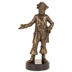 Imagineer Blaine Gibson Bronze Pirate Sculpture.