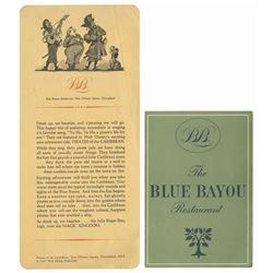 Pair of Blue Bayou Menus.