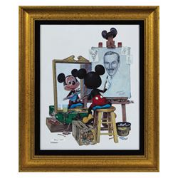 Charles Boyer Mickey Mouse Self-Portrait Ceramic Print.