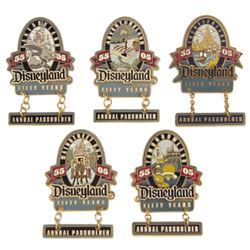 Set of (5) 50th Anniversary Land Pins.