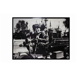 Black & White Photograph Print of Walt & Mickey.