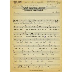 Grim Grinning Ghosts Original Sheet Music with Notes.