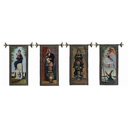 Set of (4) Haunted Mansion Limited Edition Tapestries.