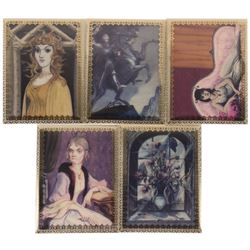 Complete Set of (5) Haunted Mansion Lenticular Cards.