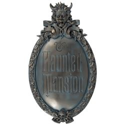 Haunted Mansion Talking Gate Plaque.