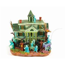 Haunted Mansion Fiber Optic Model.