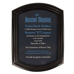 "Haunted Mansion Replica ""E"" Ticket Sign."