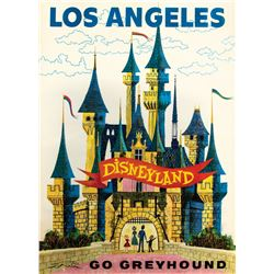 Go Greyhound Disneyland Travel Poster.