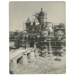 Original Disneyland Castle Construction Photo.
